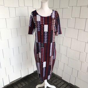 LulaRoe | Triangle Patterned Julia Dress